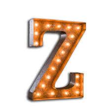 Letter Light Z The Vintage Industrial