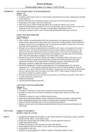 Download Executive Housekeeper Resume Sample As Image File