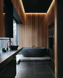 diese badezimmer in schwarz wirken luxuriös und