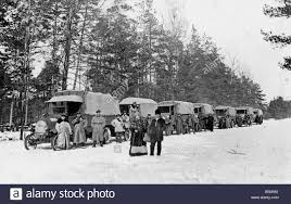 2 G55 O1 1916 32 Convoy Of German Trucks WWI C 1916 History World ...
