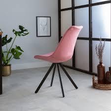 jace esszimmerstuhl samt rosa