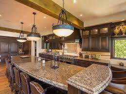 Log Cabin Kitchen Backsplash Ideas by Log And Stone Colorado Ski Chalet With Great Room