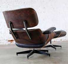 SOLD – Vintage Eames Lounge Chair & Ottoman in Black Leather