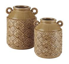 100 Ochre Home Edaline Vase Set On Sale At Family Furniture In