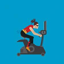 1900710 Gym Cycle Woman On An Exercise Bike