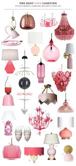 The Best Pink Lighting Sconces Pendants Chandeliers And Lamps In A Rosy