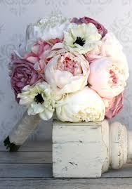 Shabby Chic Wedding Decor Pinterest by Silk Bride Bouquet Peony Flowers Pink Cream Purple Shabby Chic