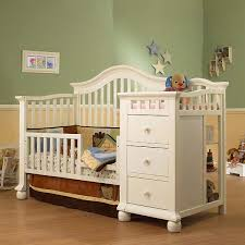sorelle capecod crib changer with toddler rail french white