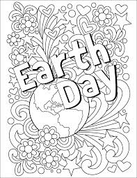 Earth Day Coloring Page Free Download To Celebrate The On April 22