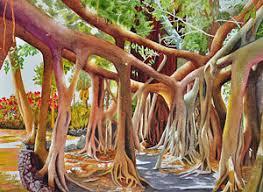 Banyan Tree Watercolor Painting