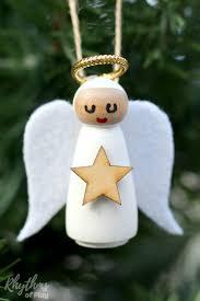 diy wooden peg doll angel ornament rhythms of play