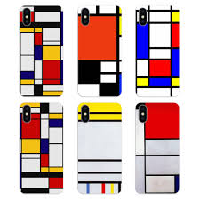 100 Bauhaus Style US 099 Bauhaus Style Abstract Art Piet Mondrian For Samsung Galaxy A5 A6 A7 A8 A9 J4 J5 J7 J8 2017 2018 Plus Prime Silicone Case Coversin Fitted