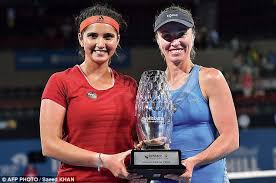 Sania And Martina With The Trophy In Brisbane On Saturday They Have Now Won 26