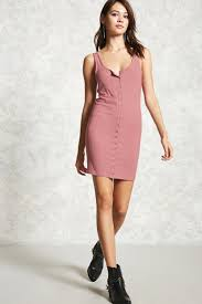 snap button tank dress forever21