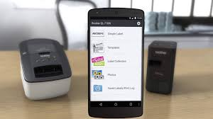 Free Brother iPrint&Label App to easily print labels from your