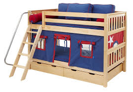 Maxtrix Low Bunk Bed w Angled Ladder Twin Twin