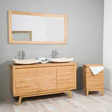 Salle Bain Teck Fabuleux Meuble Double Vasque Zen Douche Longue Durée