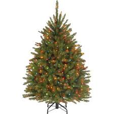 45 Hinged Green Artificial Christmas Tree With 450 Multicolored Lights