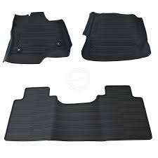 100 Truck Floor Mat OEM Black All Weather Molded Kit Set Of 3 For Ford F150