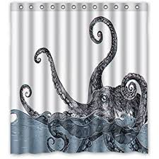 Perfect Decoration Shower Curtain Octopus Incredible Design Amazon