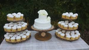 Tree Cupcake Stand Log Rustic Cake Wood Tower Wedding Set Of 3 Stands