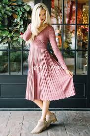 pretty dusty pink pleated modest dress modest dress for nursing
