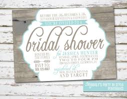 Country Rustic Theme Bridal Shower Invitation