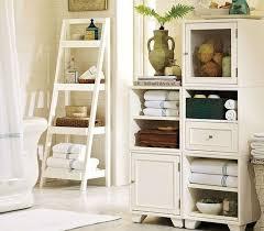 Teak Bathroom Corner Shelves by White Ceramic Toilet In Beige Painted Wall Bathroom Towel Storage