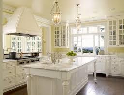Classic Yellow White Kitchen Decor Photos