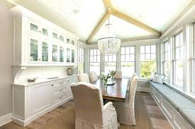 Dining Room Built Ins In Transitional With Around Window B Zoomalsco