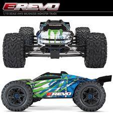 100 Traxxas Trucks 110 ERevo VXL 20 4WD Brushless Monster Truck RTR Grn W