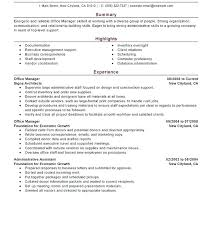 Example Management Resume Hotel Format General