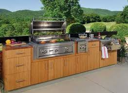 Lowes outdoor kitchen cabinets design ideas Non warping patented