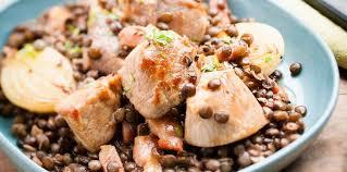 cuisiner un sauté de porc sauté de porc aux lentilles facile et pas cher recette sur