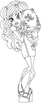 Monster High Coloring Page For Twyla In Scaremester