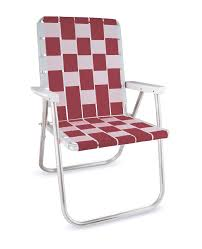 100 Burgundy Rocking Chair Lawn USA White Folding Aluminum Webbing Classic