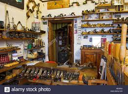 Interior Traditional Woodworking Tool Shop With Variety Old Antique And New Hand Tools Bristol Design