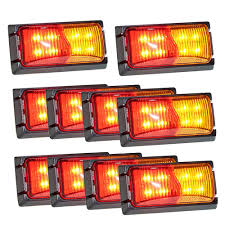 100 Truck Marker Lights 10x LightFox LED Clearance Light Red Amber Trailer Clearance