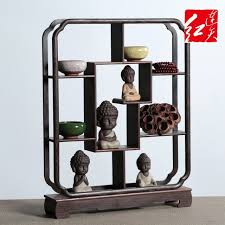 Halloween Vintage Home Decoration Wenge Accessories Antique Shelf Rack Solid Wood Display Stand Desktop Ornaments Whatnot