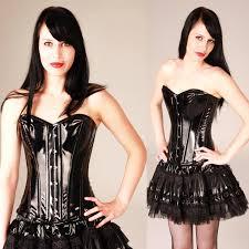 burleska pvc overbust corset elegant