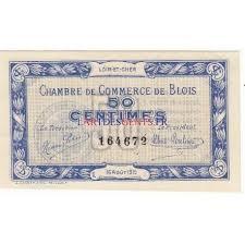 acheter billet 50 centimes chambre de commerce blois 1915 neuf
