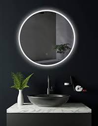 hoko runder bad spiegel led beleuchtet bremen 80cm rund badezimmerspiegel mit licht rundum energieklasse a weee reg nr de 40647673