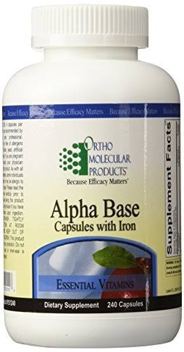 Ortho Molecular Alpha Base Capsules with Iron Supplement - 240ct