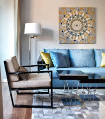 blue sofa home design and decor