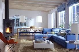 wohnen in blau weiß living at home