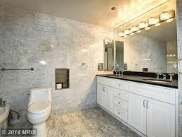 contemporary 3 4 bathroom with undermount sink wall sconce in