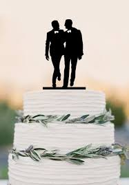 Gay silhouette Homo ual Wedding Cake Topper For Men Gift Gay