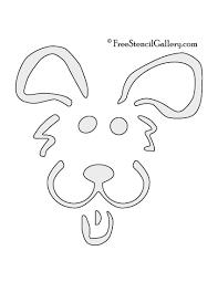 Pumpkin Carving Cutouts by Dog Stencil 02 Free Stencil Gallery
