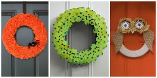 Halloween Door Decorating Contest Ideas by 30 Diy Halloween Wreaths How To Make Halloween Door Decorations
