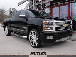 Chevrolet Silverado with 24in Lexani Johnson II Wheels exclusively